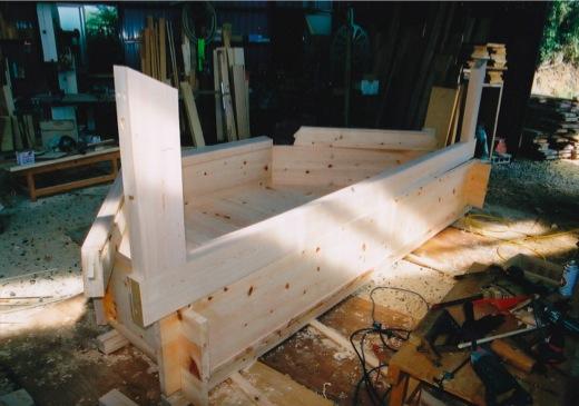 長尺物の木製風呂加工もいたしまし